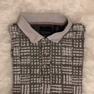 Patterned Polo Grey